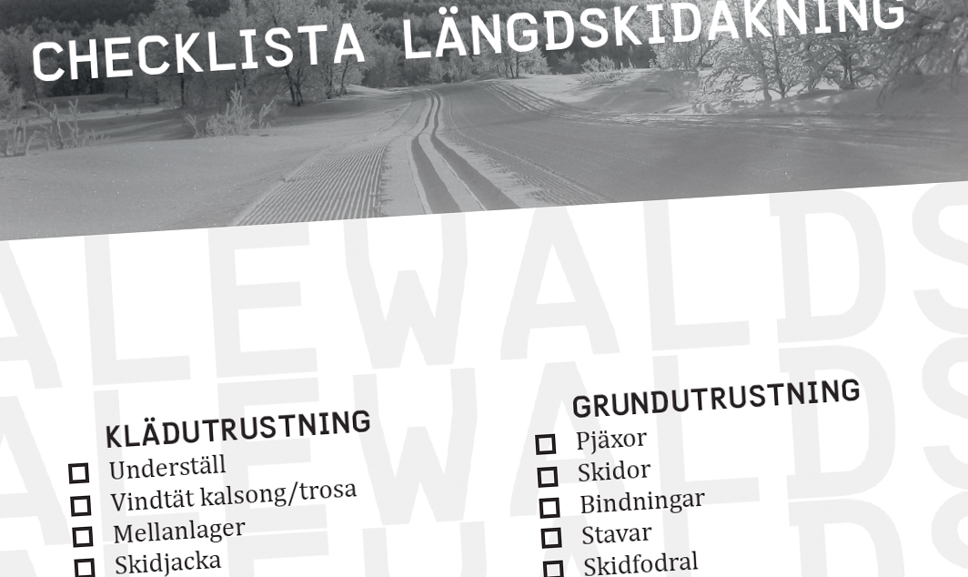 Checklista: längdskidåkning