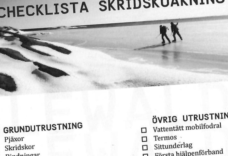 Checklista: skridskoåkning
