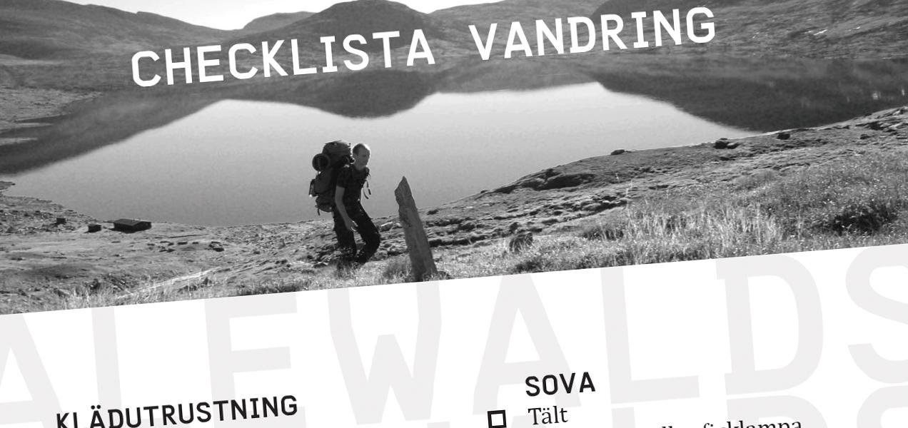 Checklista: vandring sommar
